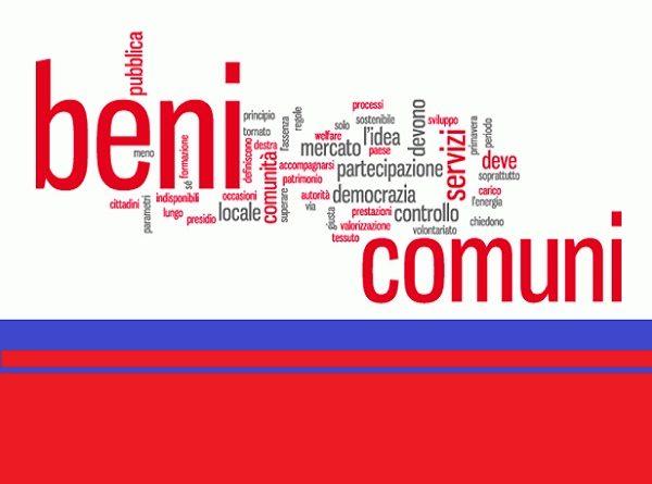 BENI COMUNI: linguaggio, politica, economia
